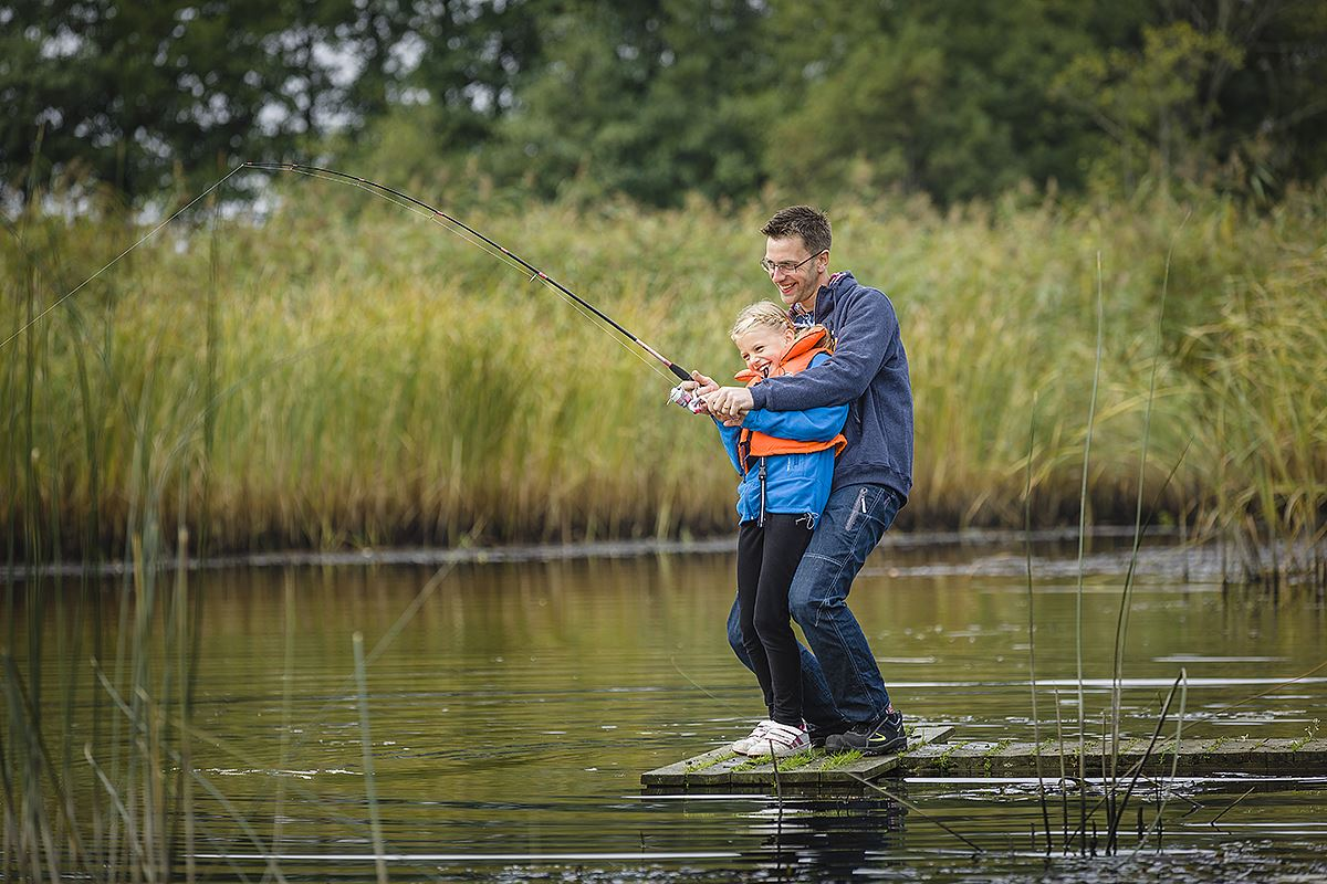 Fishing in the lower reaches of the River Helgeå