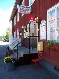 Entrance to Torsångs Café
