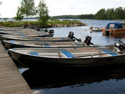 Fishing arrangements at Mjölknabben campsite