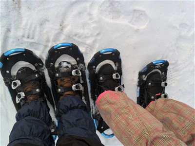 Snow shoes in snow