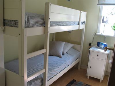 Guest room with a bunkbed.