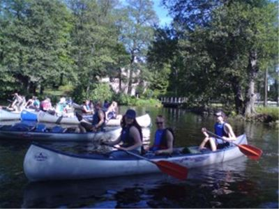 Boat & canoe rental at the Asa youth hostel