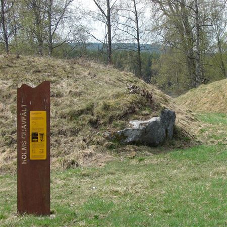 The burial mounds in Holm and Björkå img