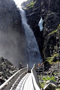 Njupeskär waterfall.