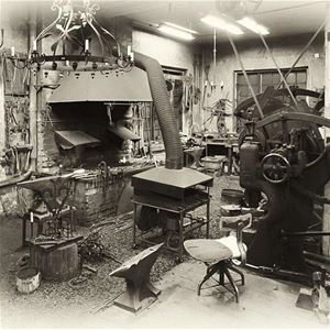 An old photo of the forge.
