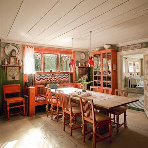 Interiors in the home of Carl Larsson.