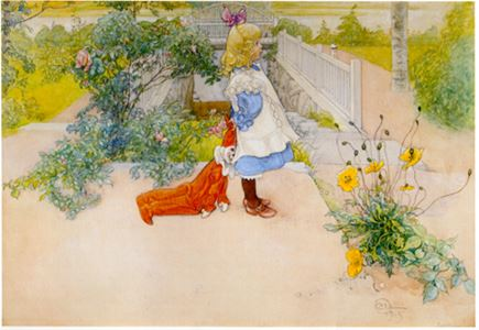 Painting made by Carl Larsson.