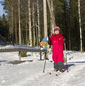 Child on cross-country skis.