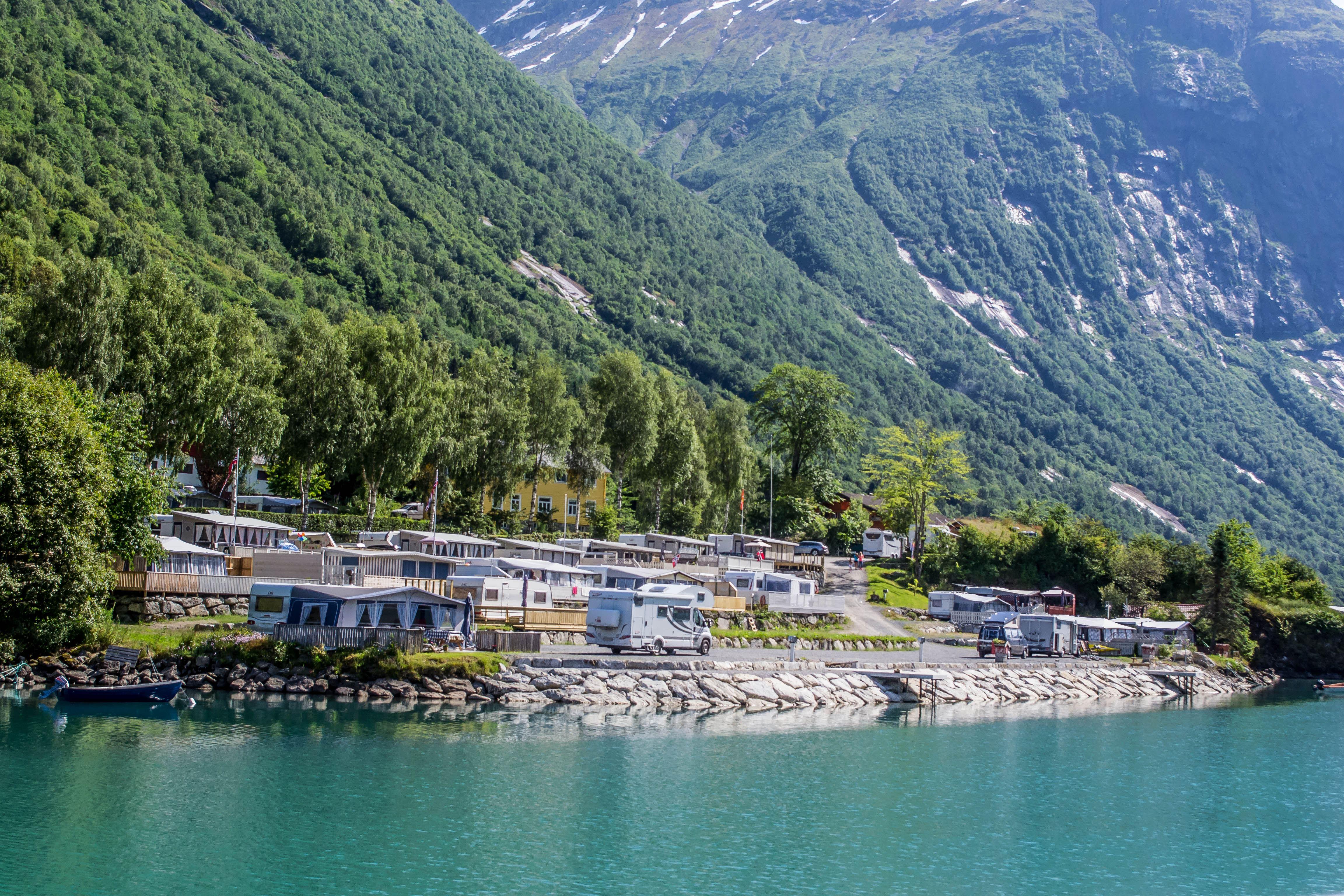 Sande Camping, Hytter, Loen