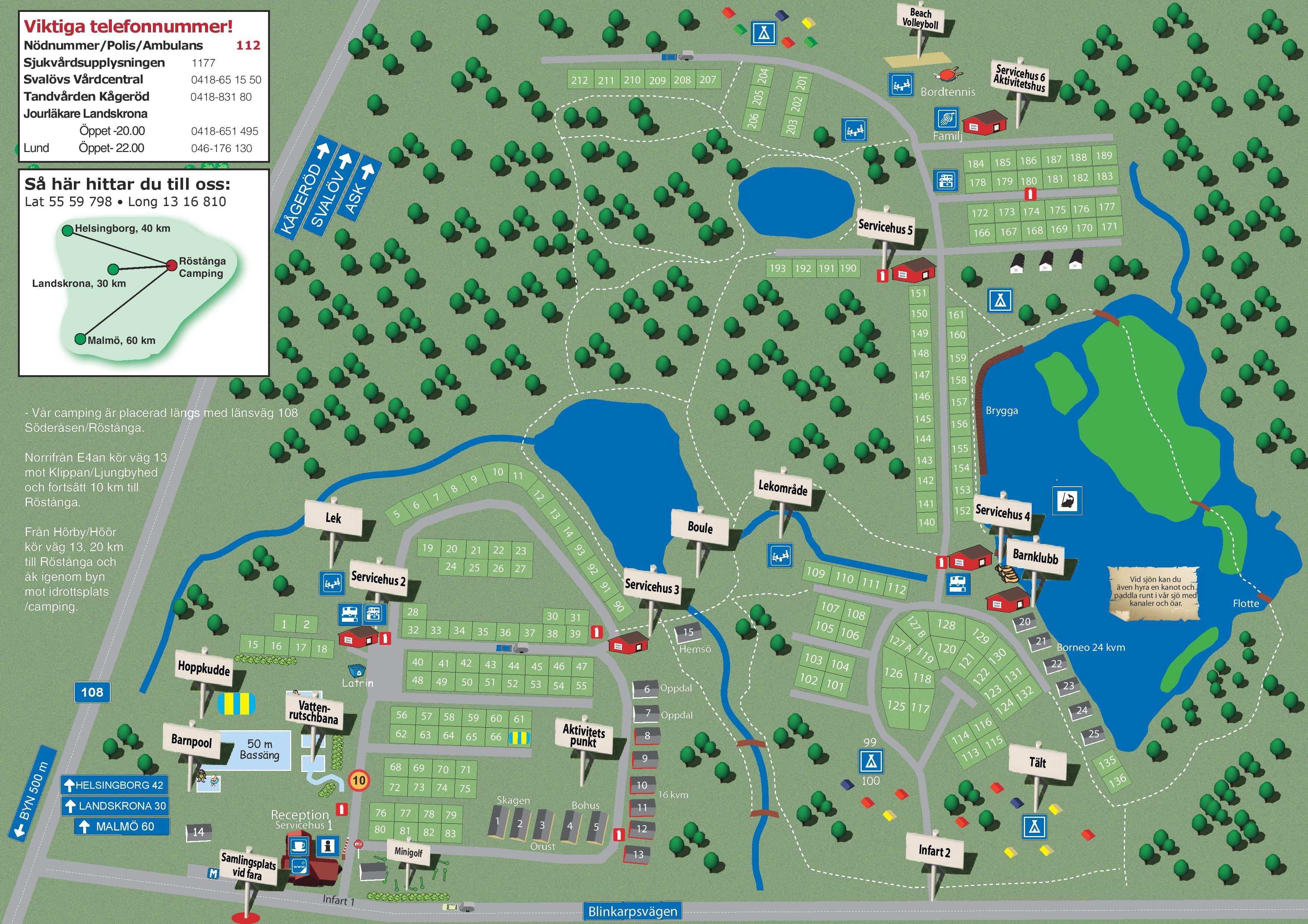 Karta Camping Skane.Nordic Camping Rostanga Stugor Accommodation Details Stugbyar