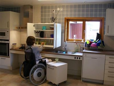 handicapped accessible kitchen.