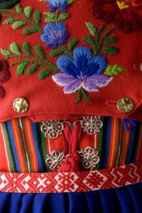 Folk costume in close-up