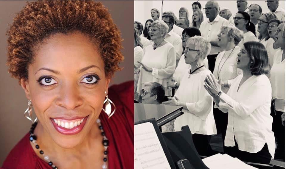 Amerikanskt gospelgung med Diane White Clayton