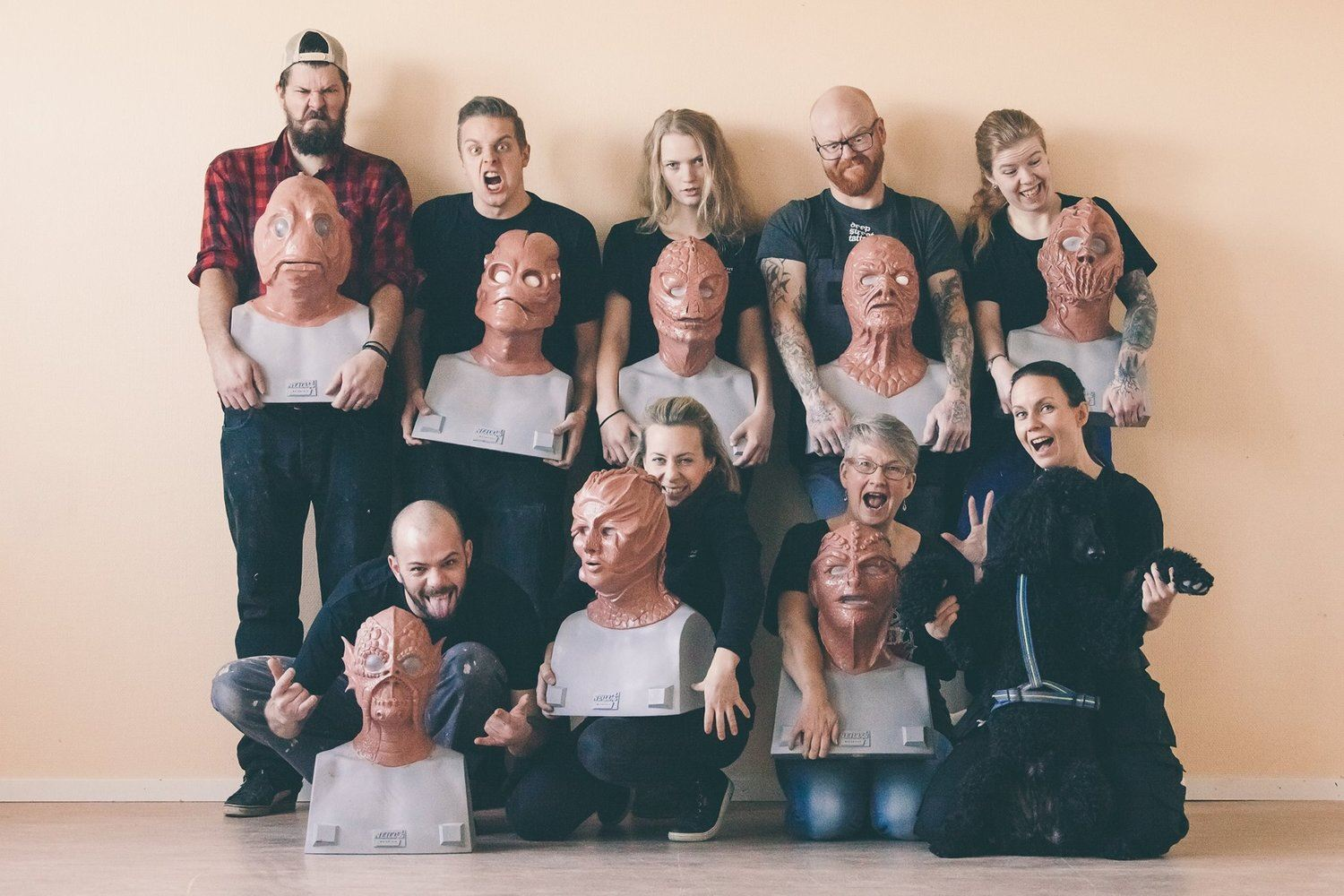 10-day silicone mask making workshop at Helsinglight FX - Sweden