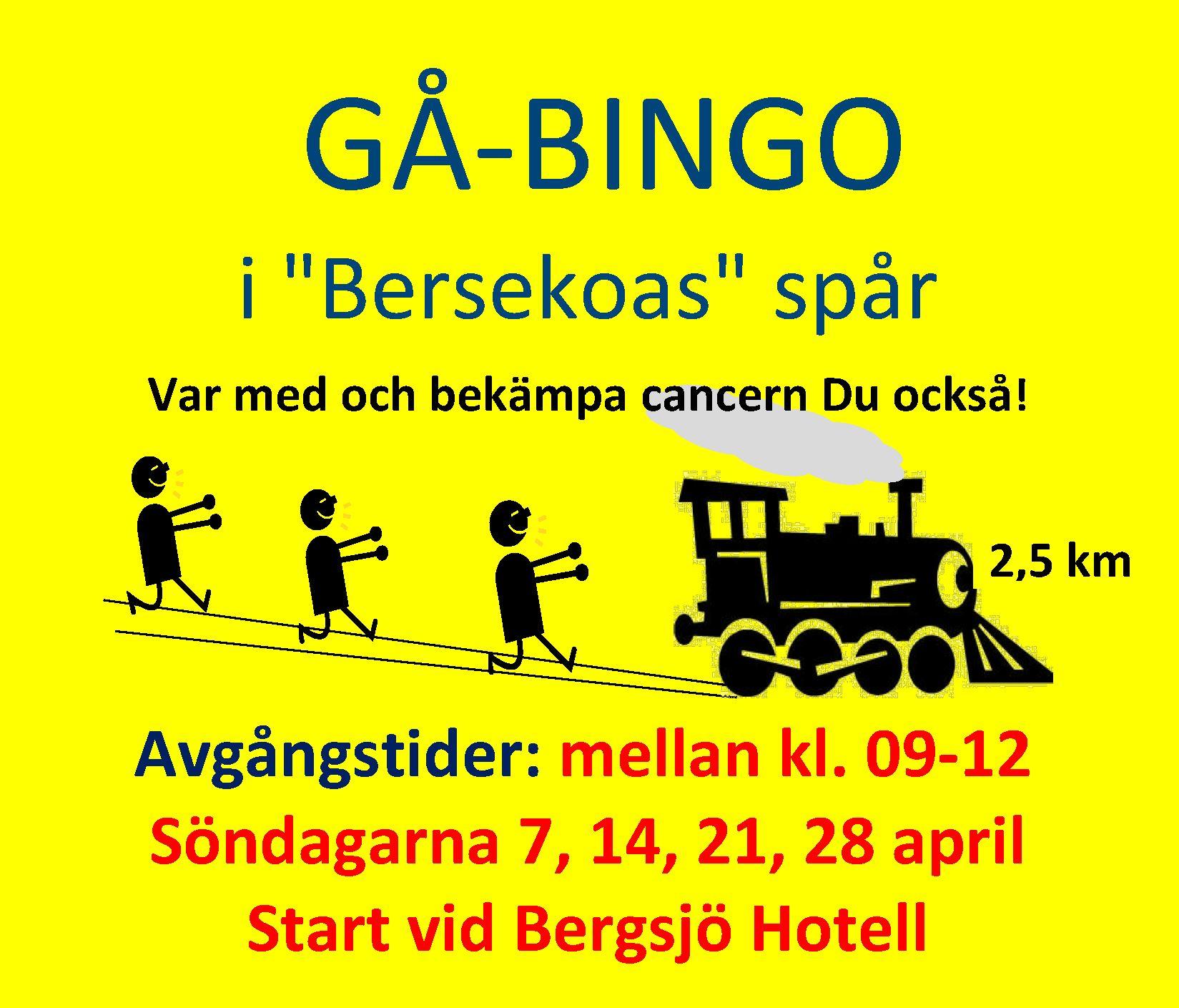 Gå-bingo - i