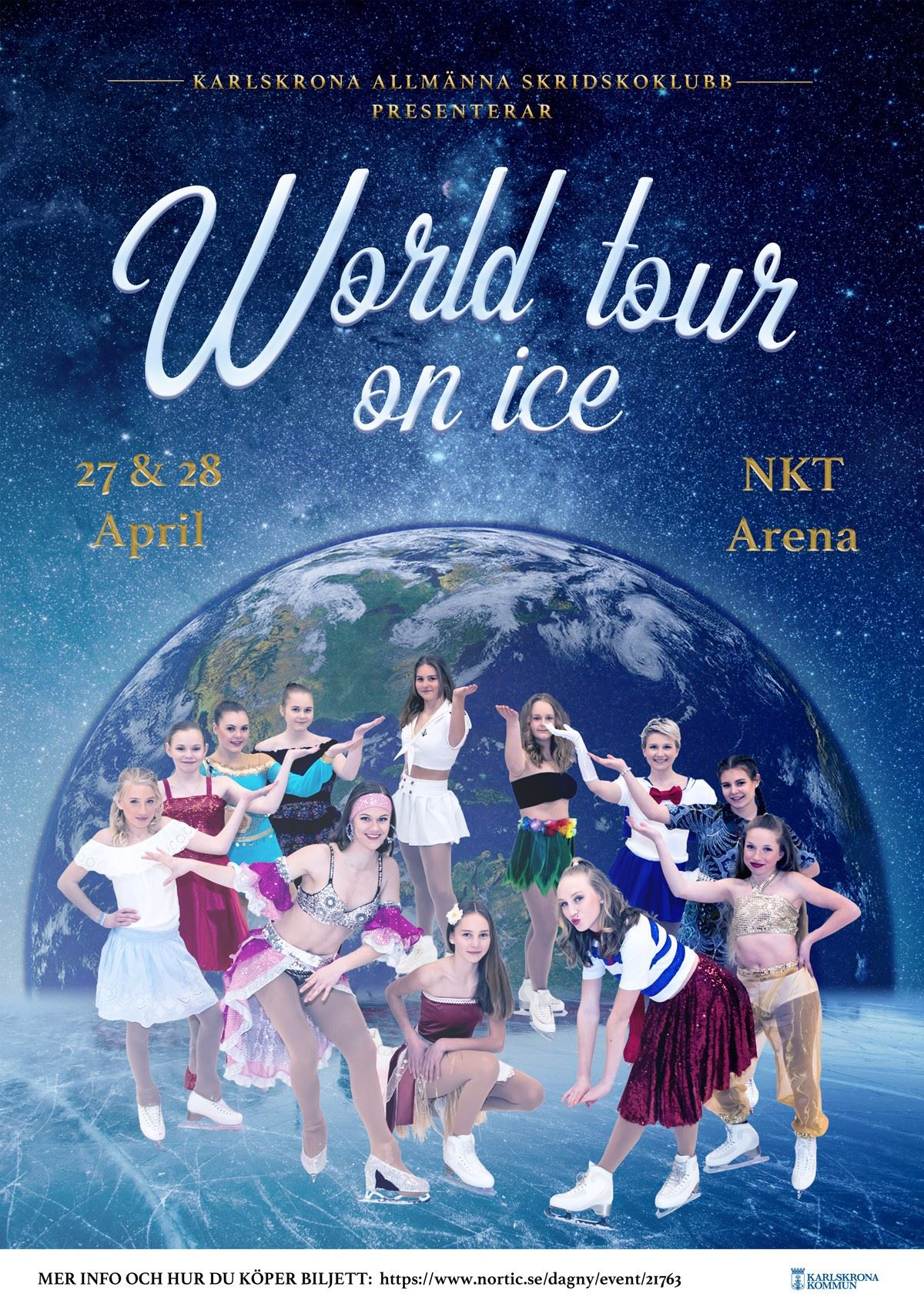 World tour on ice - Karlskrona Allmänna Skridskoklubb