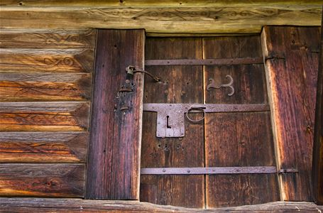 Close up of a door.