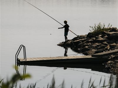 Fishing in Åsnen