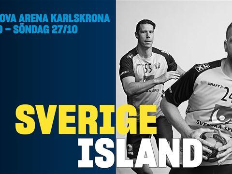 Landskamp Handboll: Sverige-Island