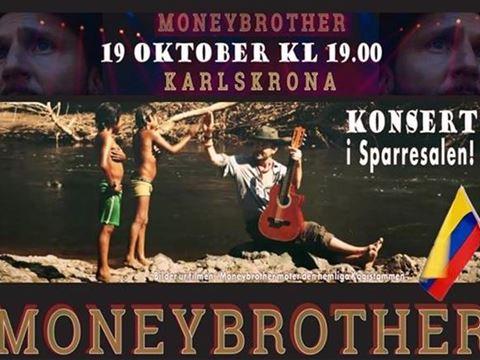 Konsert - Moneybrother för Colombias barn