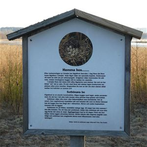 Informationsign along the walkingtrail.